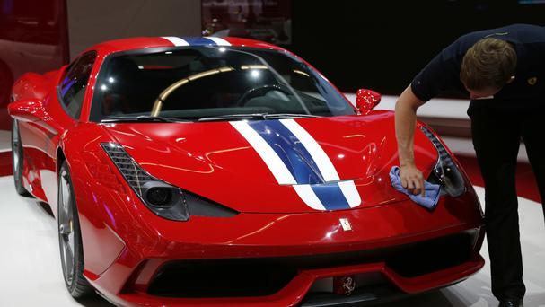 A Ferrari 458 Speciale suffered serious damage in the incident (AP)