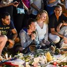 People gather on the Promenade des Anglais, Nice, after the Bastille Day terror attack