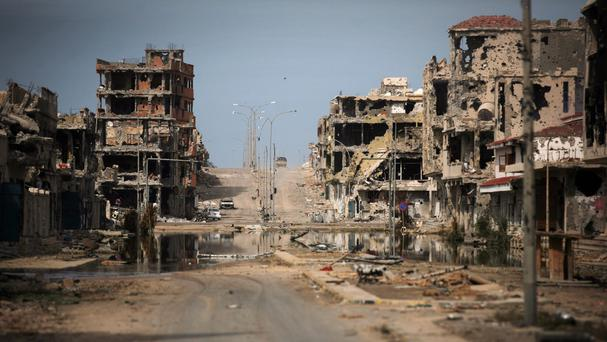 The fighters said they have seized control of the former IS base in Sirte, Libya (AP)