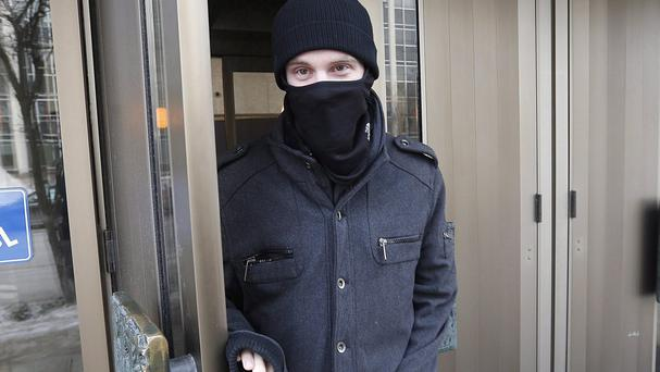 Aaron Driver pictured leaving court in Winnipeg in February (The Canadian Press/AP)