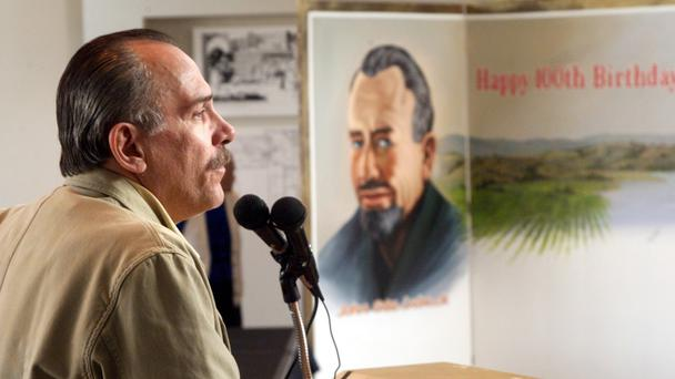 Thomas Steinbeck speaks in 2002 to celebrate what would have been his father's, author John Steinbeck's, 100th birthday (The Californian/AP)