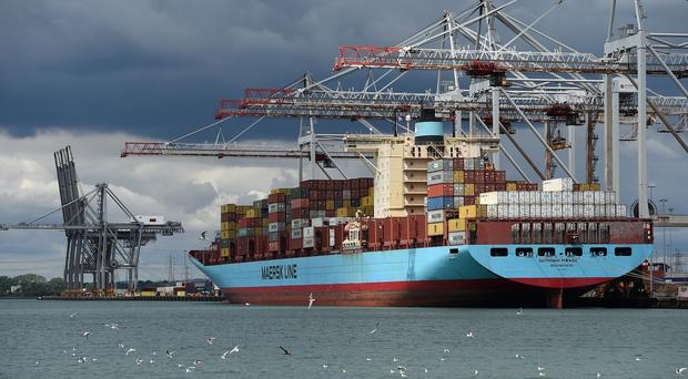 Shares in Maersk were up 3.1pc