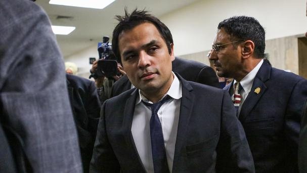 Gurbaksh Chahal, pictured in April at the Hall of Justice in San Francisco (San Francisco Chronicle/AP)
