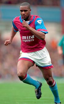 Dalian Atkinson in his playing days with Aston Villa.