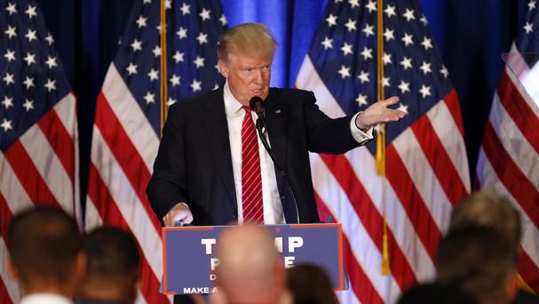 Republican Presidential candidate Donald Trump speaks in Youngstown, Ohio (AP)