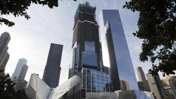 The Westfield World Trade Centre, a shopping centre, will open in the three buildings (AP)