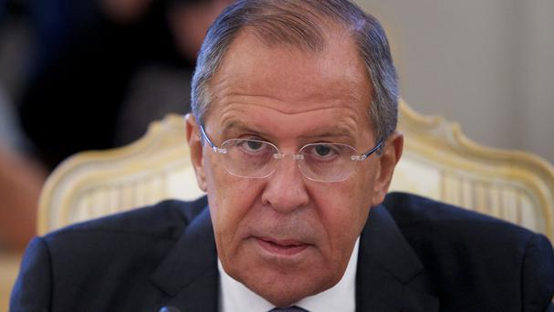 Russian foreign minister Sergey Lavrov defended the strikes (AP)