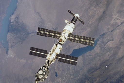 A new door has been installed in the International Space Station