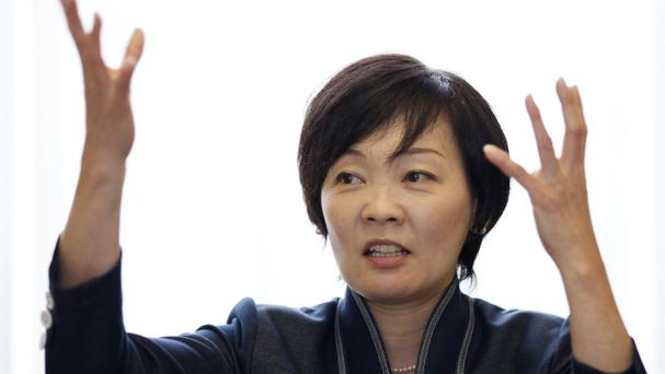 Akie Abe, pictured in 2014, has visited Pearl Harbour (AP)