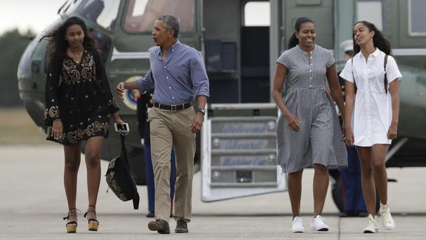 Barack Obama was criticised over his holiday (AP)