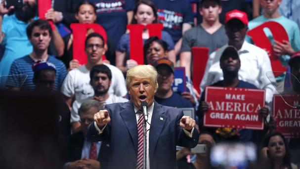 Donald Trump speaks at a campaign rally in Austin, Texas (AP)