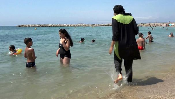 Burkinis have been banned in several French towns (AP)