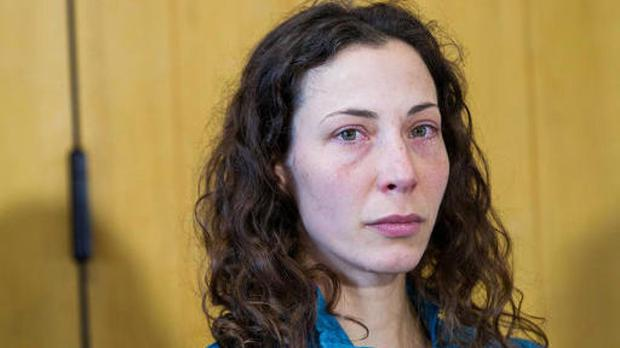 Czech tourist Pavlina Pizova attends a press conference at a police station in Queenstown, New Zealand (James Allan/New Zealand Herald via AP)