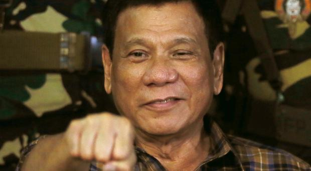 Rodrigo Duterte unleashed a massive anti-drug crackdown after taking office barely two months ago (AP)