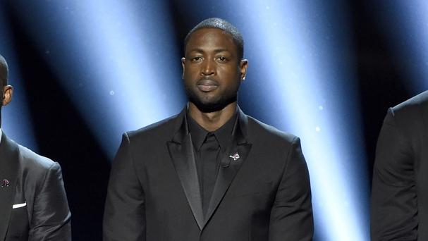 Dwyane Wade and fellow players spoke out on stage against violence (Chris Pizzello/Invision/AP/PA)