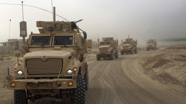 Iraqi security forces deploy after the defeat of IS in Qayara at the weekend (AP)