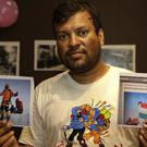 Indian climber Satyarup Sidhantha with pictures he says were altered (AP)
