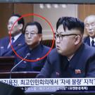 Kim Yong Jin, circled, with North Korean leader Kim Jong Un (AP)