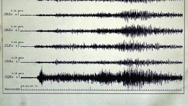 An earthquake struck about 100 miles off the east coast of New Zealand's North Island
