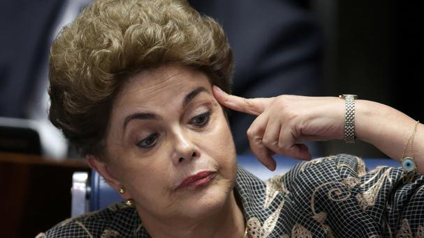 Former Brazilian president Dilma Rousseff says she will be a strong voice in opposition (AP)