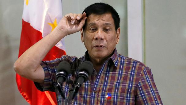 Philippine president Rodrigo Duterte issued the warning to US president Barack Obama (AP)