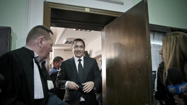 Romania's outgoing prime minister Victor Ponta is under investigation (AP)