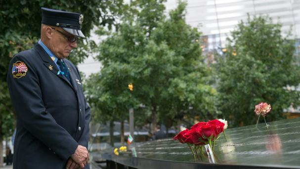 Retired New York City firefighter Joseph McCormick remembers his fallen colleagues (AP)