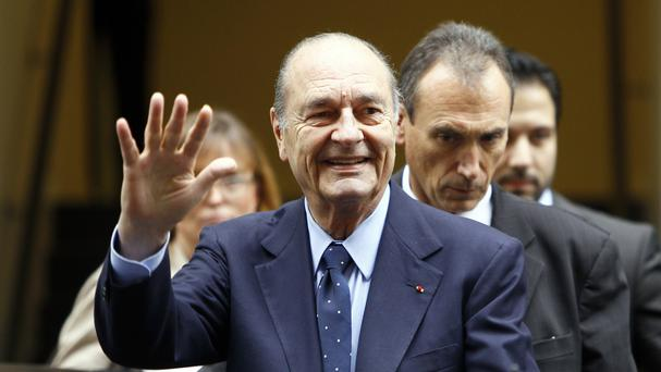 Jacques Chirac was French president from 1995 to 2007 (AP)