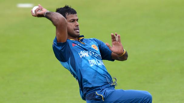Nuwan Kulasekara during a one-day international match against England