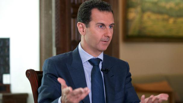 Syrian president Bashar Assad said US air strikes on Syrian troops were