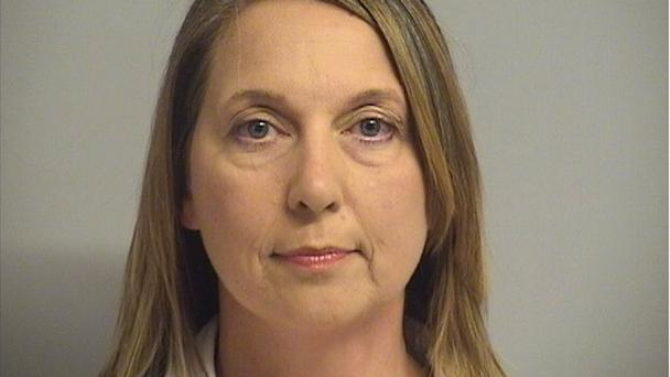 Betty Shelby has been charged with first-degree manslaughter over the death of Terence Crutcher (Tulsa County Inmate Information Centre/AP)