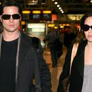 Brad Pitt and Angelina Jolie pictured at Heathrow Airport