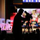 A cameraman films scenes at Pyongyang International Film Festival (AP)