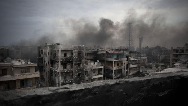 Aleppo is the former commercial centre of the country (AP)
