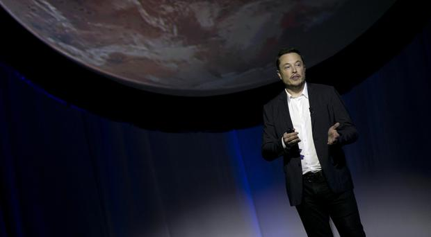 SpaceX founder Elon Musk speaks at the 67th International Astronautical Congress in Guadalajara (AP)