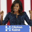 First lady Michelle Obama speaks at LaSalle University in Philadelphia (AP)