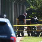 Police at Townville Elementary School after the shooting (AP)