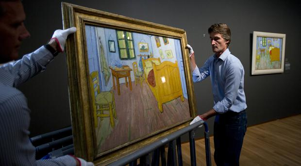 The paintings were stolen from the Van Gogh Museum in Amsterdam.