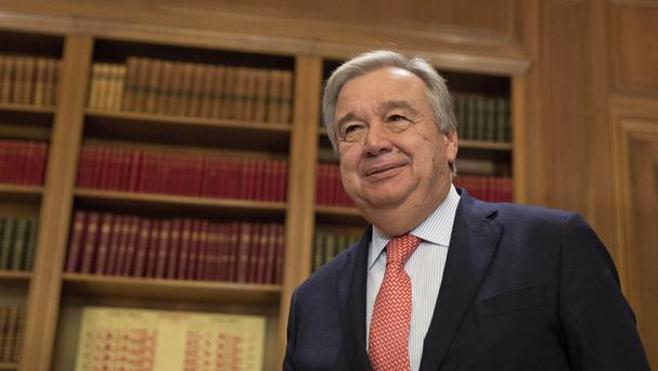 The Security Council has unanimously agreed that Mr Guterres should be the next UN Secretary-General (AP)