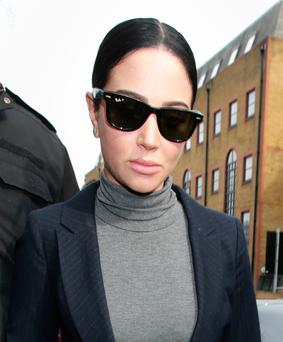 Pop star Tulisa Contostavlos Picture: PA