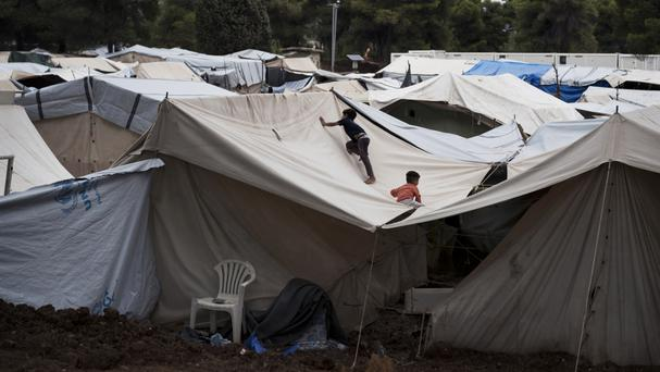 A camp for migrants north of Athens, Greece (AP)