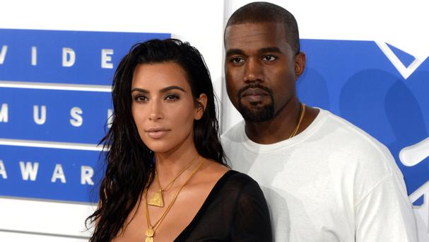 Kim Kardashian and Kanye West at this year's MTV Video Music Awards in New York City