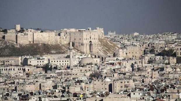 A general view over Aleppo, Syria (AP)