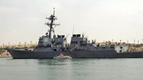 The missiles were fired at USS Mason (AP)