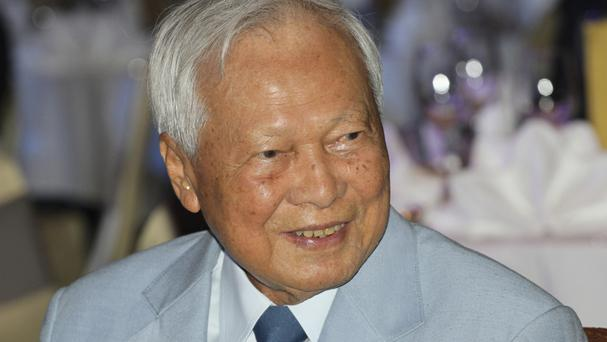 Prem Tinsulanonda, head of the Privy Council, attends a charity function in Bangkok (AP)