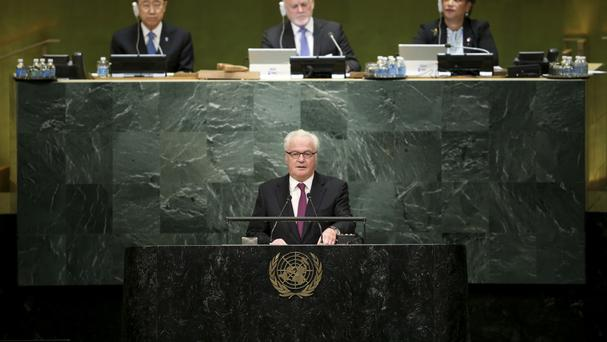 Russian ambassador to the United Nations Vitaly Churkin insisted his country wants to normalise relations with the US (AP)