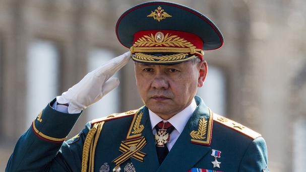 Russian defence minister Sergei Shoigu says air strikes have been suspended (AP)