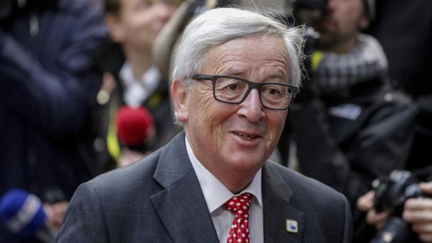 European Commission president Jean-Claude Juncker on the second day of the EU summit (AP)