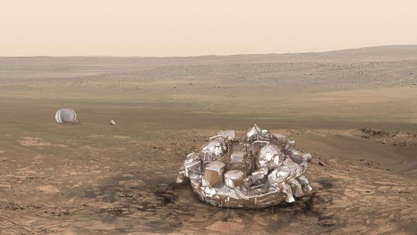 The ESA said on Friday that Schiaparelli suffered problems during the last 50 seconds of its descent through the harsh Martian atmosphere (ESA/PA)