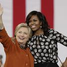 First Lady Michelle Obama campaigns with Democrat candidate Hillary Clinton in North Carolina (AP)